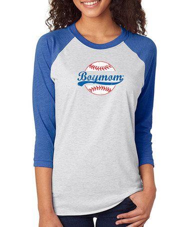 Love This Blue Boymom Baseball Raglan Tee On Zulily