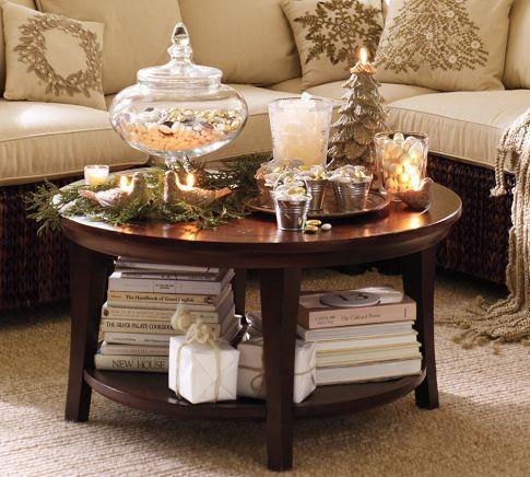 metropolitan round coffee table potterybarncom