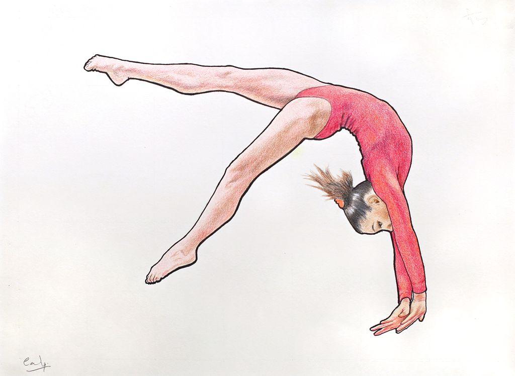рисунок по гимнастике легко уже молодой уже
