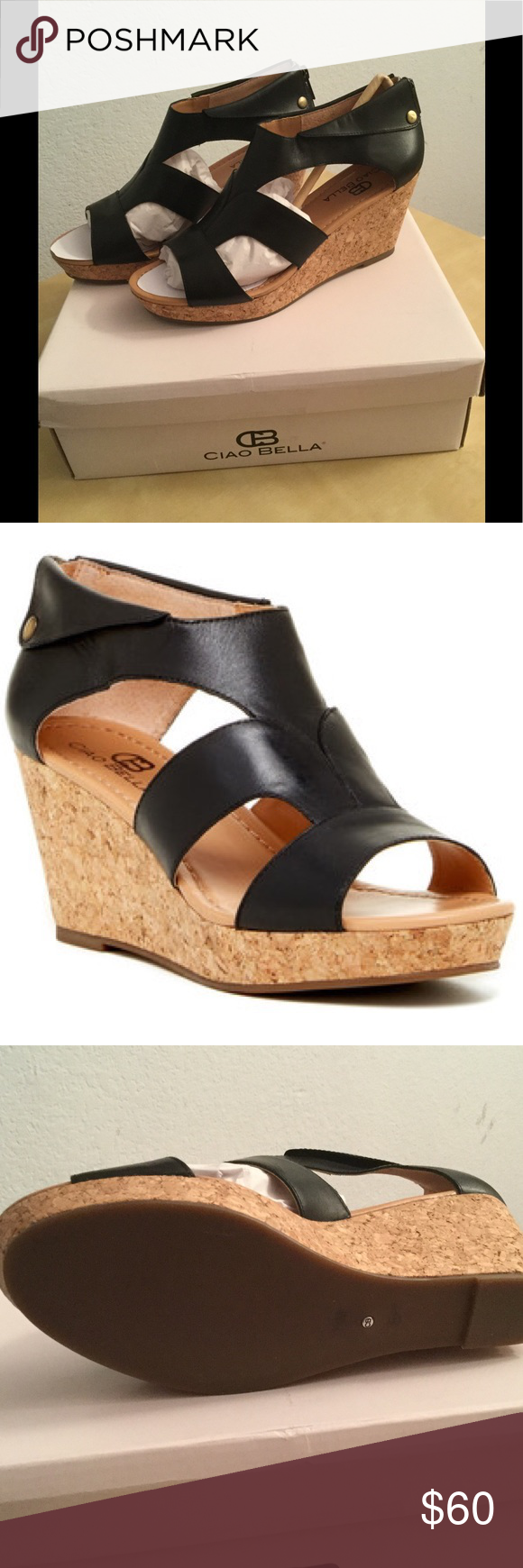 37feb5f29 Ciao Bella Lucy Cork Wedge Sandals These are brand new