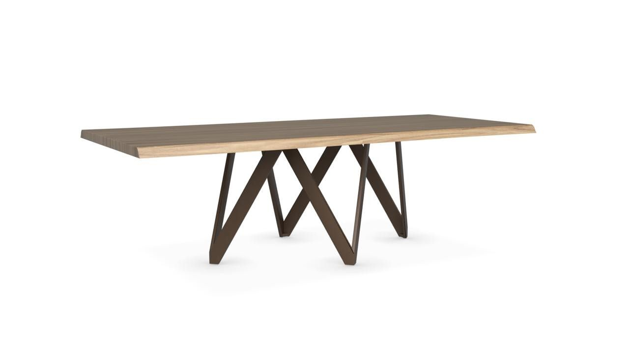 Calligaris Cartesio Wood Table With Metal Base Large Buy Dining