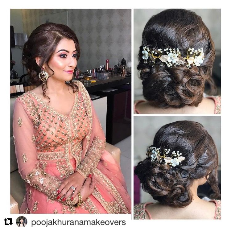 Twisted Bun Beauty Hair Artistry By Archana Rautela Indian Party Hairstyles South Indian Hairstyle Indian Hairstyles