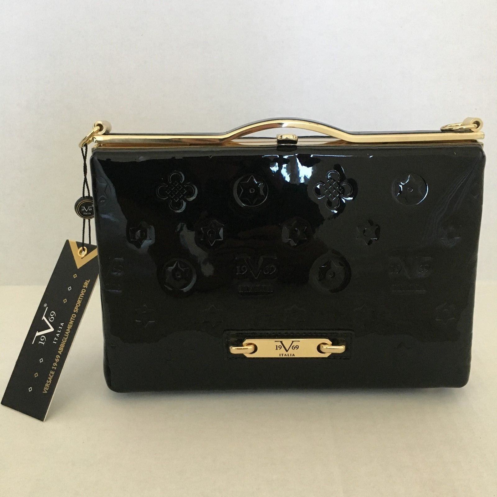 2759f42a2098 ... BAG NEW  on sale 65c26 34162 NEW VERSACE1969 ITALIA Scarlett Crossbody 19V69  Handbag Black ...