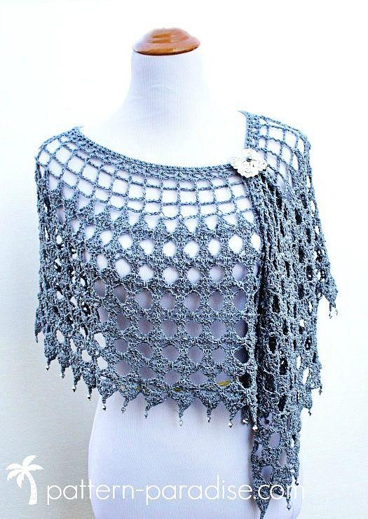 Crochet Pattern: Evening Shimmer Wrap | shawl patterns | Pinterest ...
