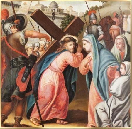 cuarta estacion santo via crucis semana santa san alfonso maria de ...