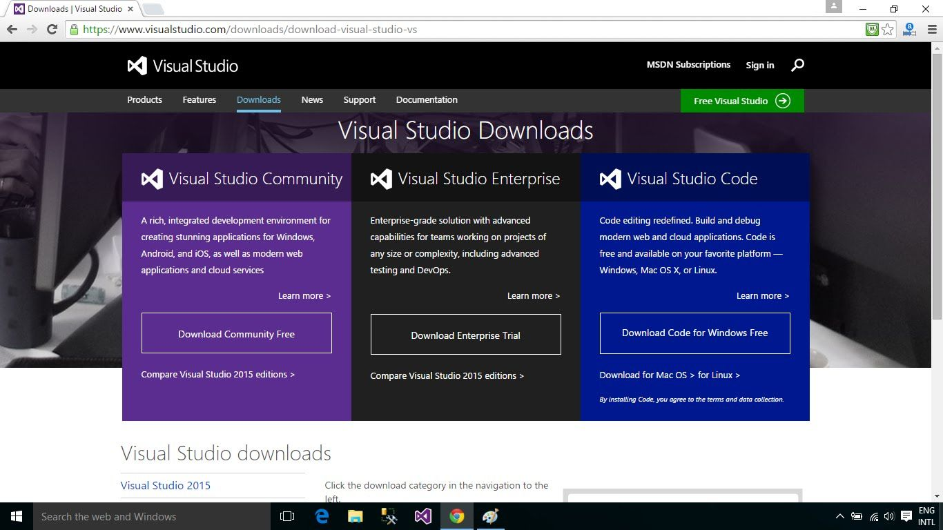 How to download and install visual studio 2015 enterprise