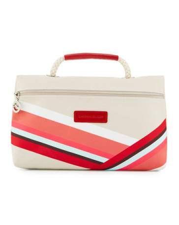 LONGCHAMP Longchamp Club Large Cosmetic Bag, Chalk. #longchamp #