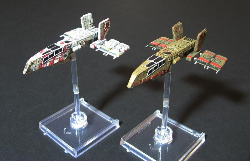 Repainted A HWK 290 | Star Wars: X Wing Miniatures Game