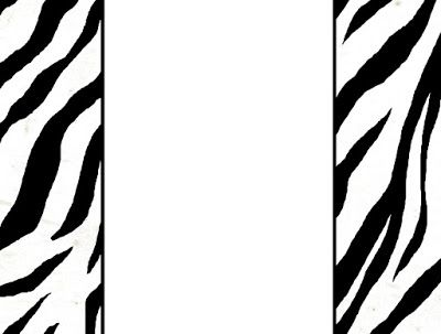 pin by beverly benkart on borders pinterest zebra art rh pinterest com animal print border clipart animal print numbers clipart