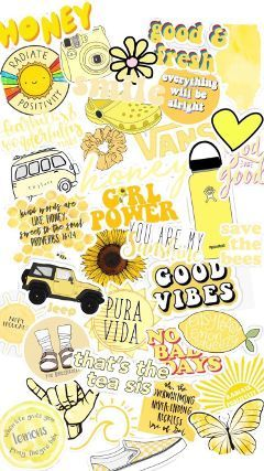 #vsco #wallpaper #yellow #cute #freetoedit
