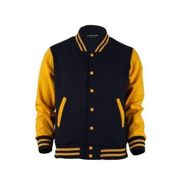 Bcpolo Men S Varsity Jacket Navy Yellow Baseball Jacket Letterman Jacket Varsity Jacket Men Varsity Jacket Outfit Varsity Jacket