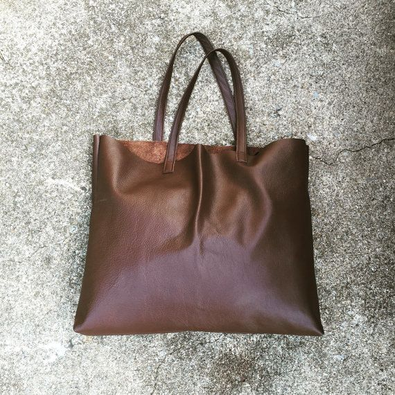 Dark Chocolate Tote by TreeFairfax on Etsy