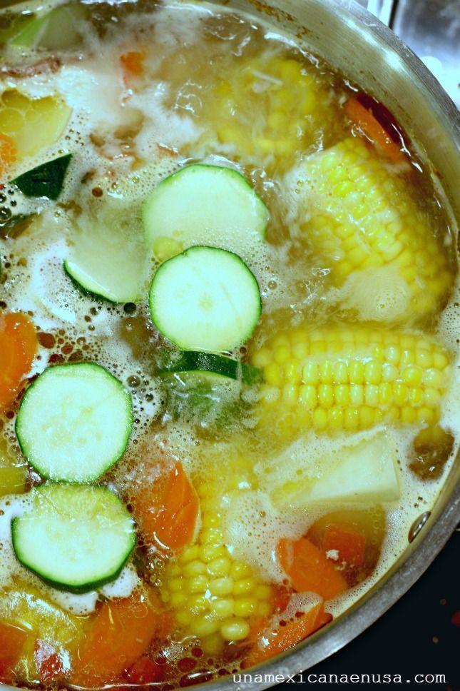 Mexican Chicken Soup -Caldo de pollo para el corazón