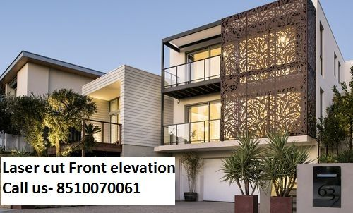 Front Elevation Stone Work : We provide all kind of laser and cnc cutting work on these
