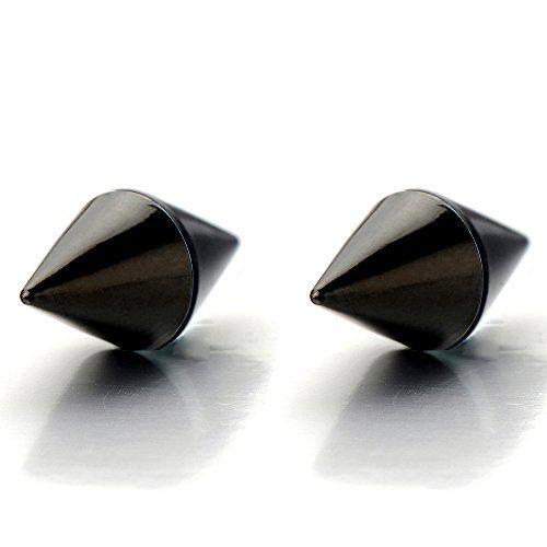 12 Pairs Black Non Piercing Clip Magnetic Ear Stud Men Women Fake Earrings