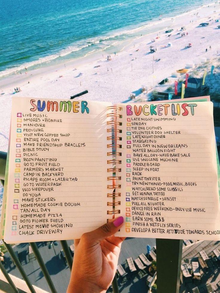 summer bucket list for a journal pop shop america