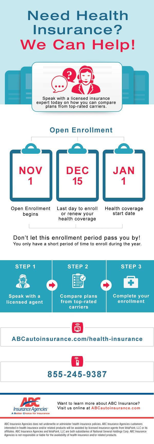Aca Open Enrollment 2019 Get Covered With Abc With Images Health Insurance Infographic Healthy Work Snacks Health Smoothies Breakfast
