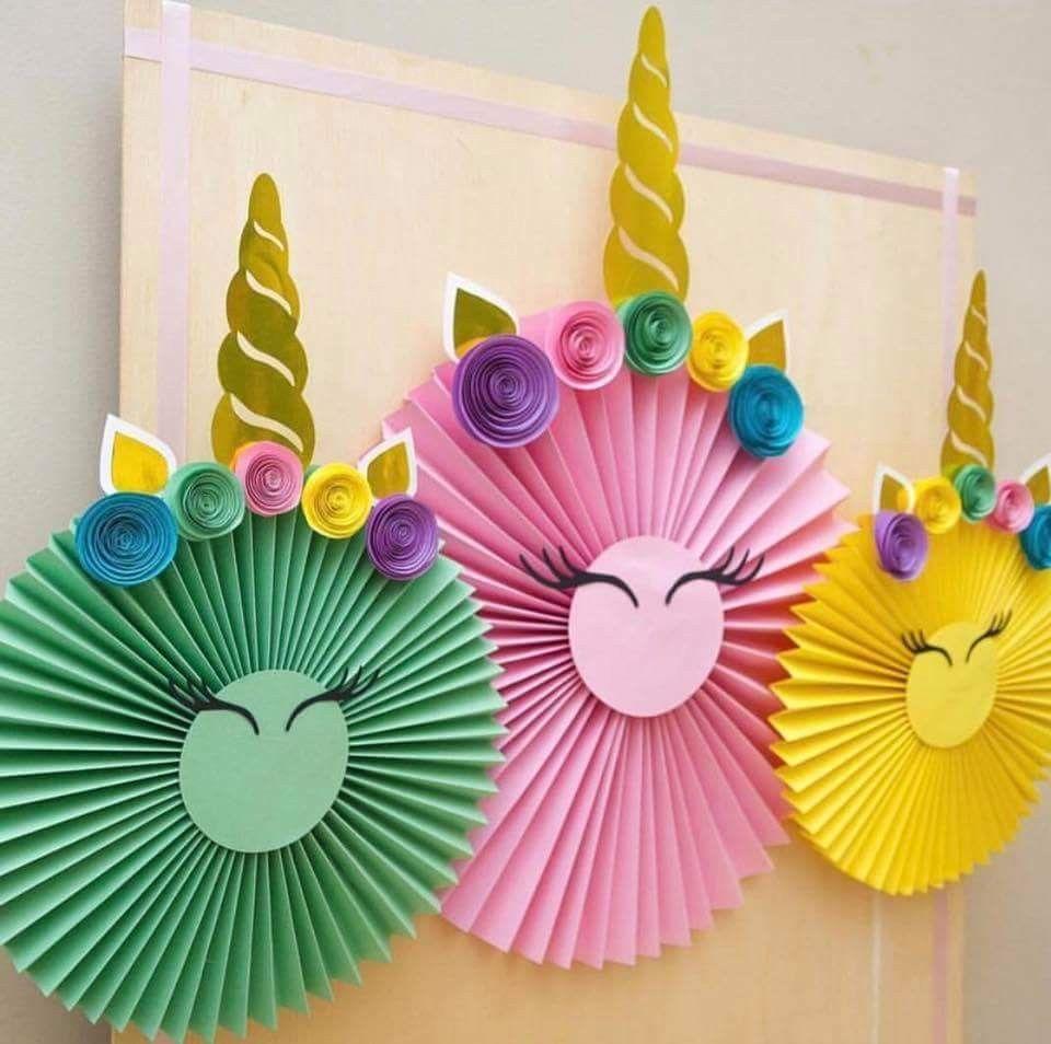 Pin de paola diaz en fiesta unicornio pinterest - Manualidades decoracion cumpleanos ...