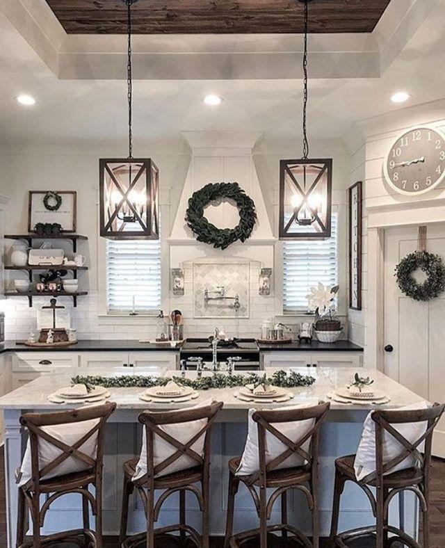Farmhouse Kitchen Reveal Interior Design Ideas Home Decorating Inspiration Moercar Kitchen Style Rustic Farmhouse Kitchen Farmhouse Kitchen Design