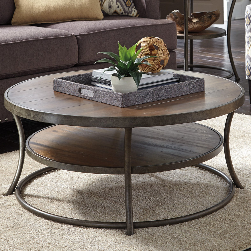 Round Coffee Table With Storage Singapore: Storage Shelves, Plank And Curves