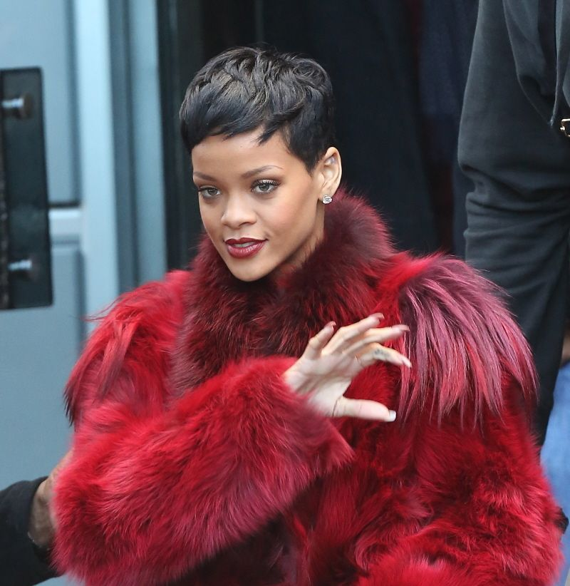 Rihanna Short Hair Short Hairstyles Pinterest Rihanna Short