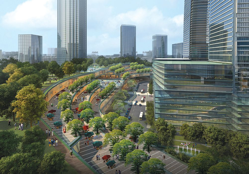 Suzhou Center Forest Ring-Sky Garden & Sky Terrace