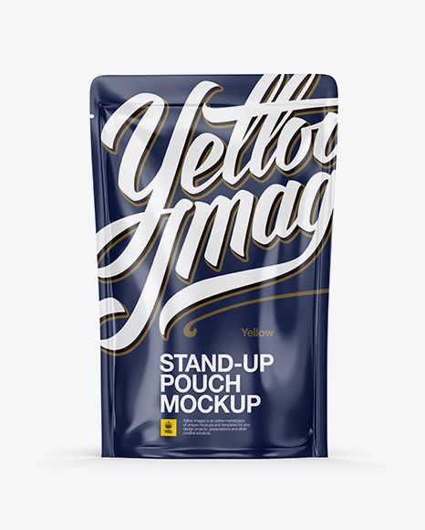 Download Glossy Stand Up Pouch Mockup In Pouch Mockups On Yellow Images Object Mockups Mockup Free Psd Psd Mockup Template Mockup Psd