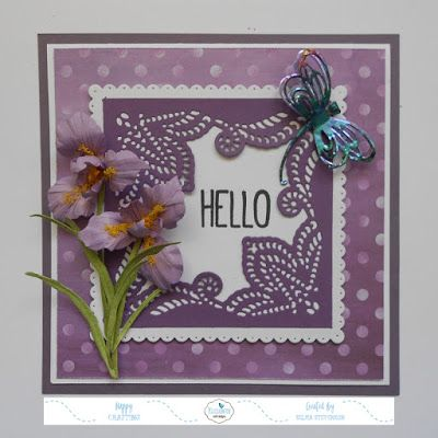 This Card Designed Using Susan S Garden Notes Iris And Modascrape