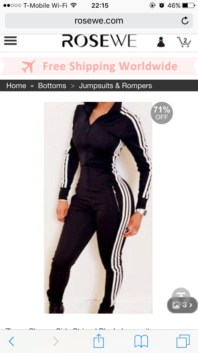 Adidas Dupe Rosewecom Jumpsuit Black Jumpsuit Rompers