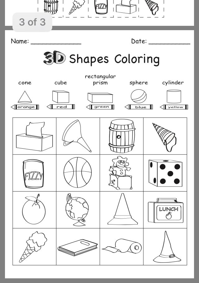 Pin By Alejandra De O On 3d Shapes Shapes Worksheet Kindergarten Shapes Kindergarten Shapes Worksheets 3d shapes worksheets for kindergarten