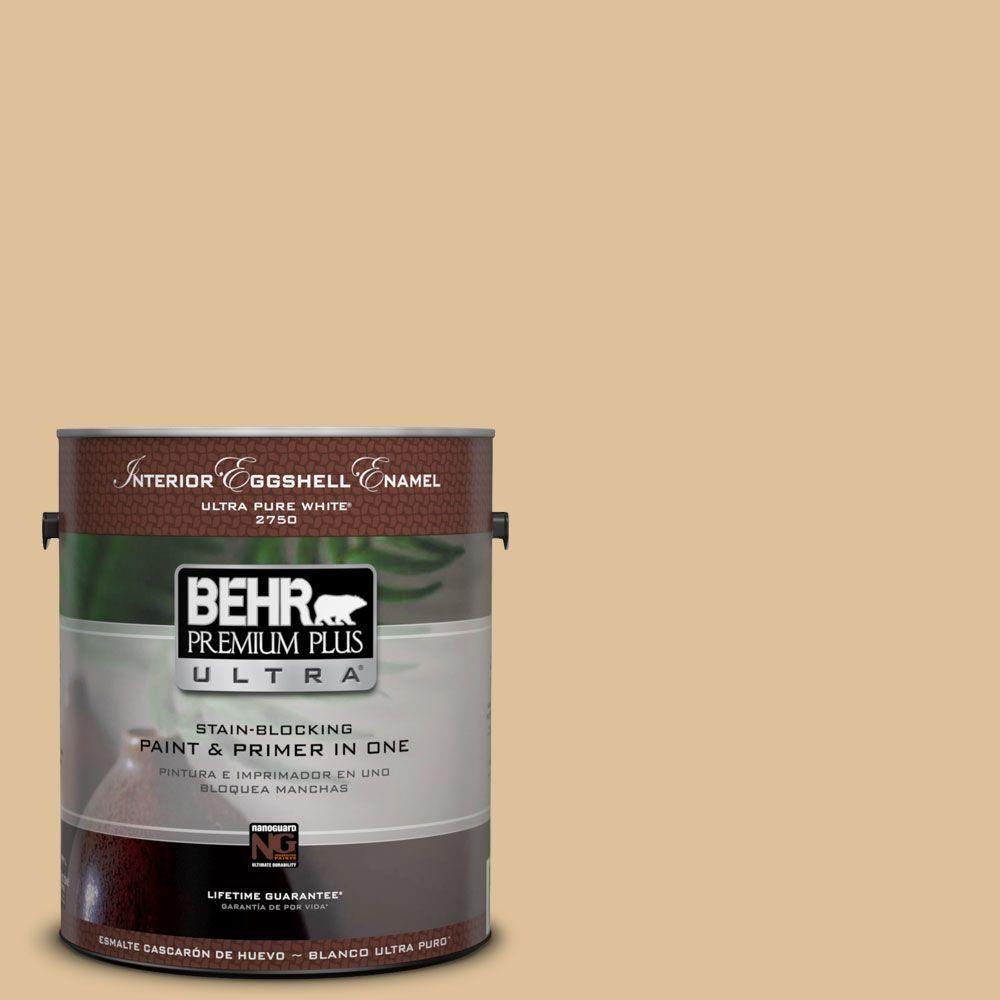 BEHR Premium Plus Ultra 1 gal. #ecc-13-1 Canoe Matte Interior Paint ...