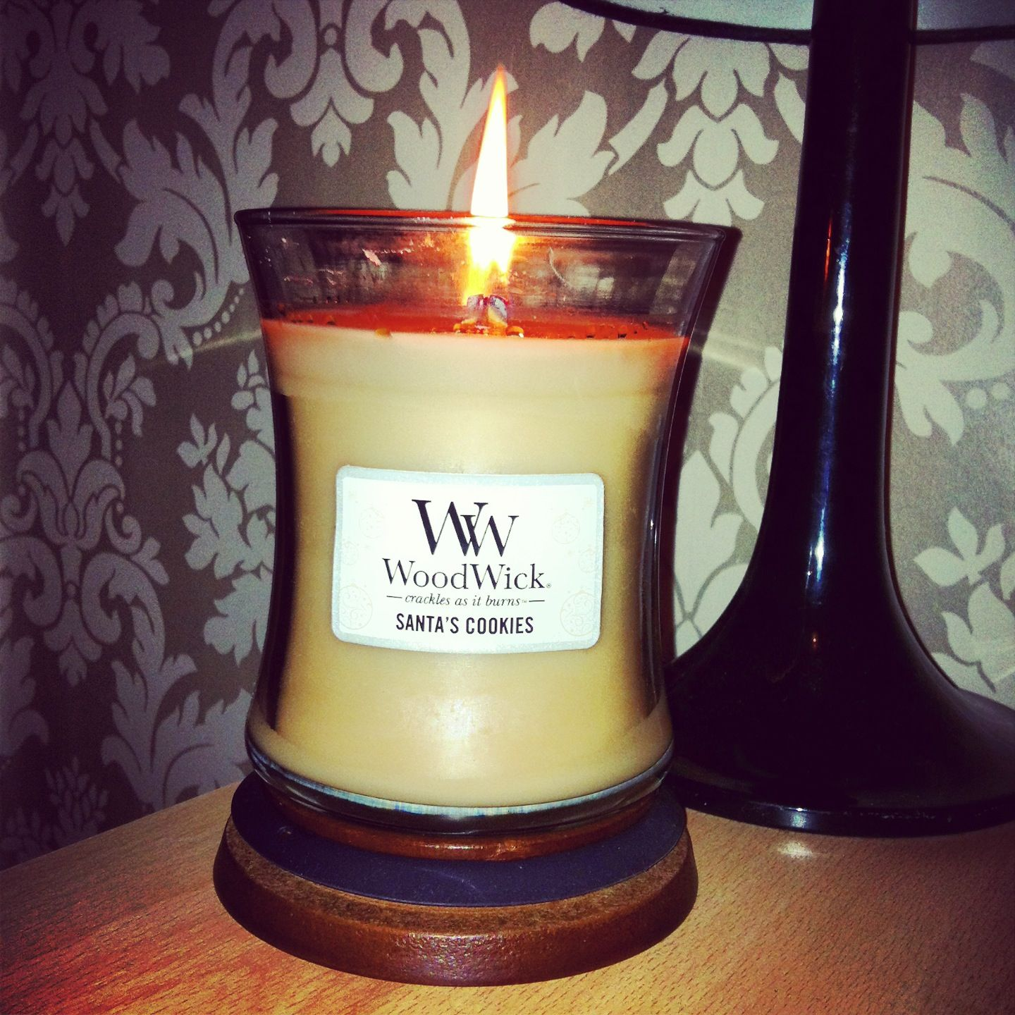 Santas Cookie Woodwick Candle So Amazing With Images Wood