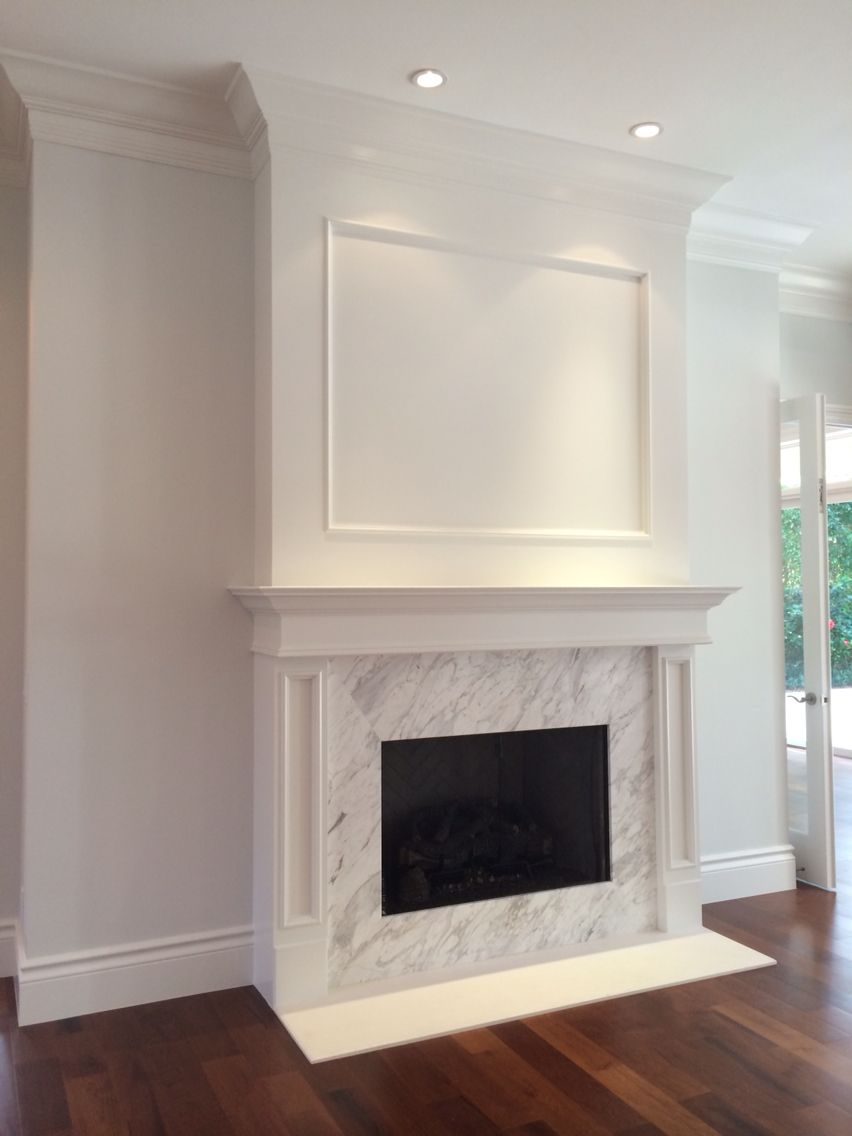 Love These Lights Above The Fireplace Although We Would Most Likely Have The Tv Above The Fireplace Home Fireplace Fireplace Design Painted Fireplace Mantels