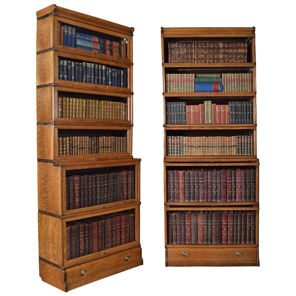 Pair of Oak Globe Wernicke, Six Section Bookcases | Pinterest ...