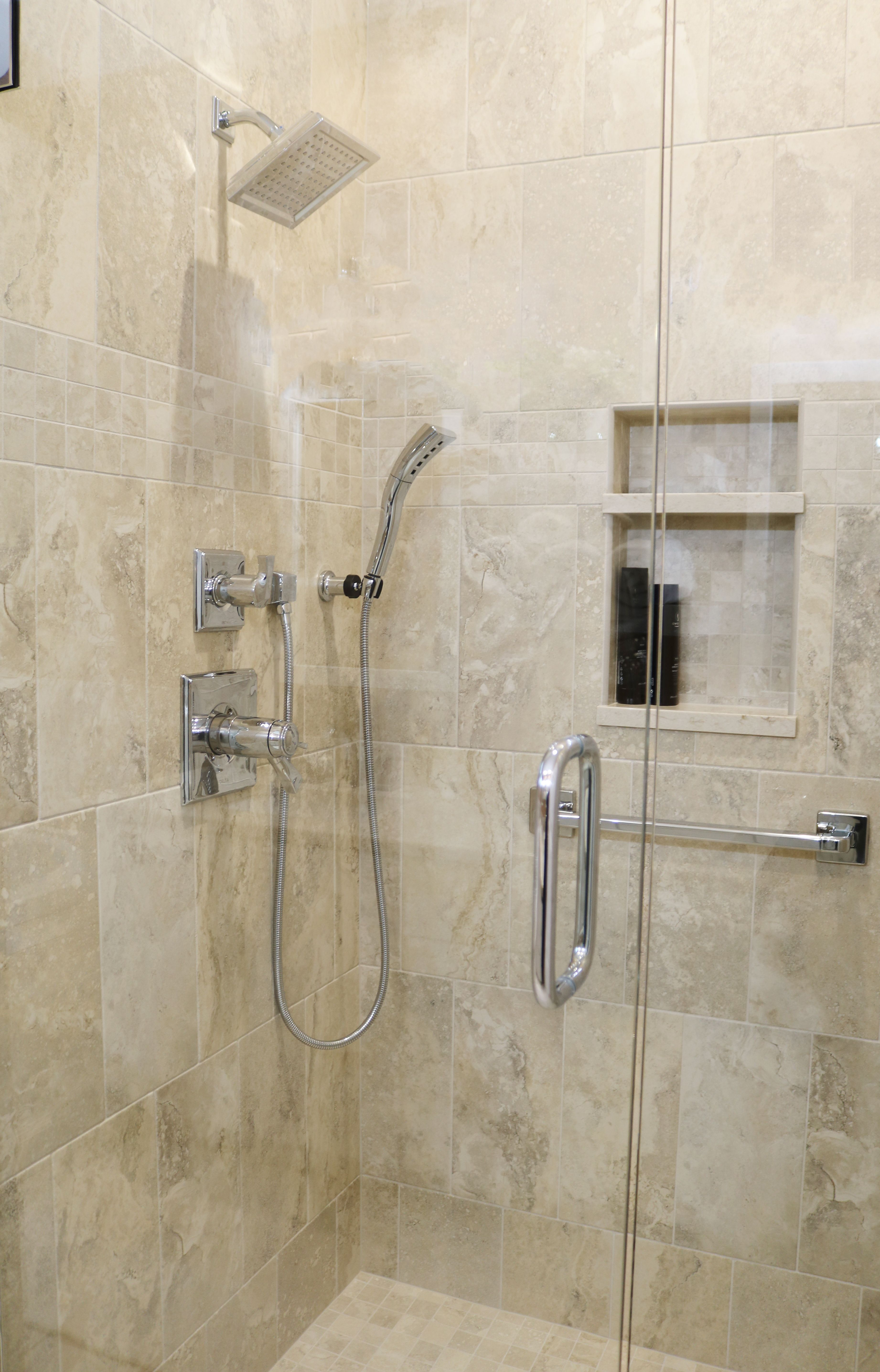 Tile Walk In Shower Delta Faucets Bathroom Tile Walk In Shower Delta Faucets