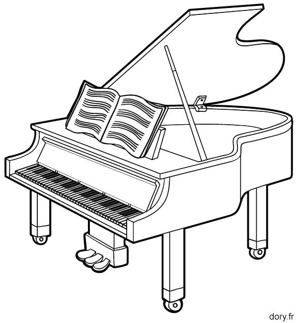 Coloriage Facile Instruments.Dessin A Imprimer Un Piano Dessin Dessin A Imprimer Et Piano