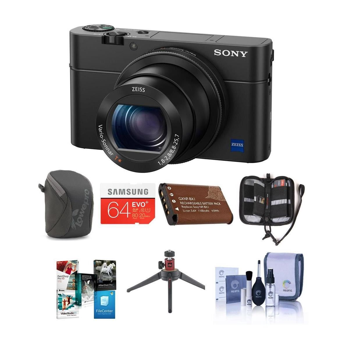 Sony Cyber Shot Dsc Rx100 Iv Digital Camera And Premium Kit Bundle Compact M4 Green
