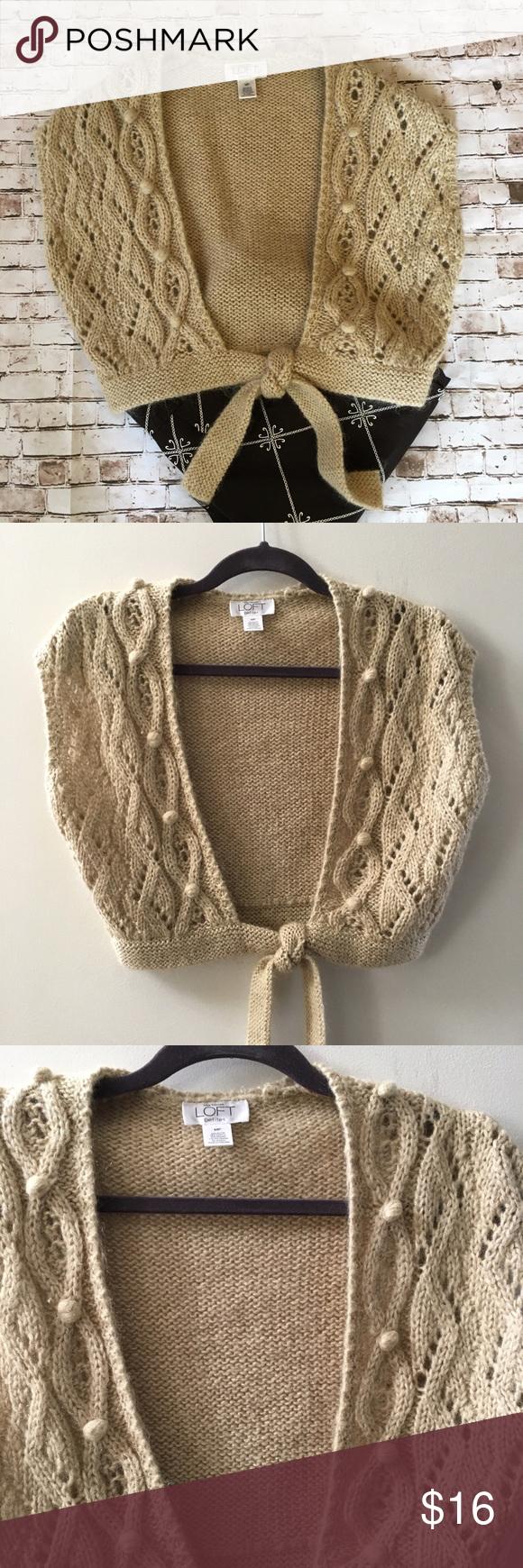 🌓5/$25 Loft tan shrug sweater So soft! Loft tan shrug sweater ...