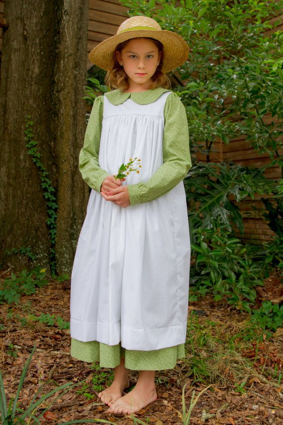8b1856ba797 Anne of Green Gables Costume Dress and Pinafore any Girls Size ...