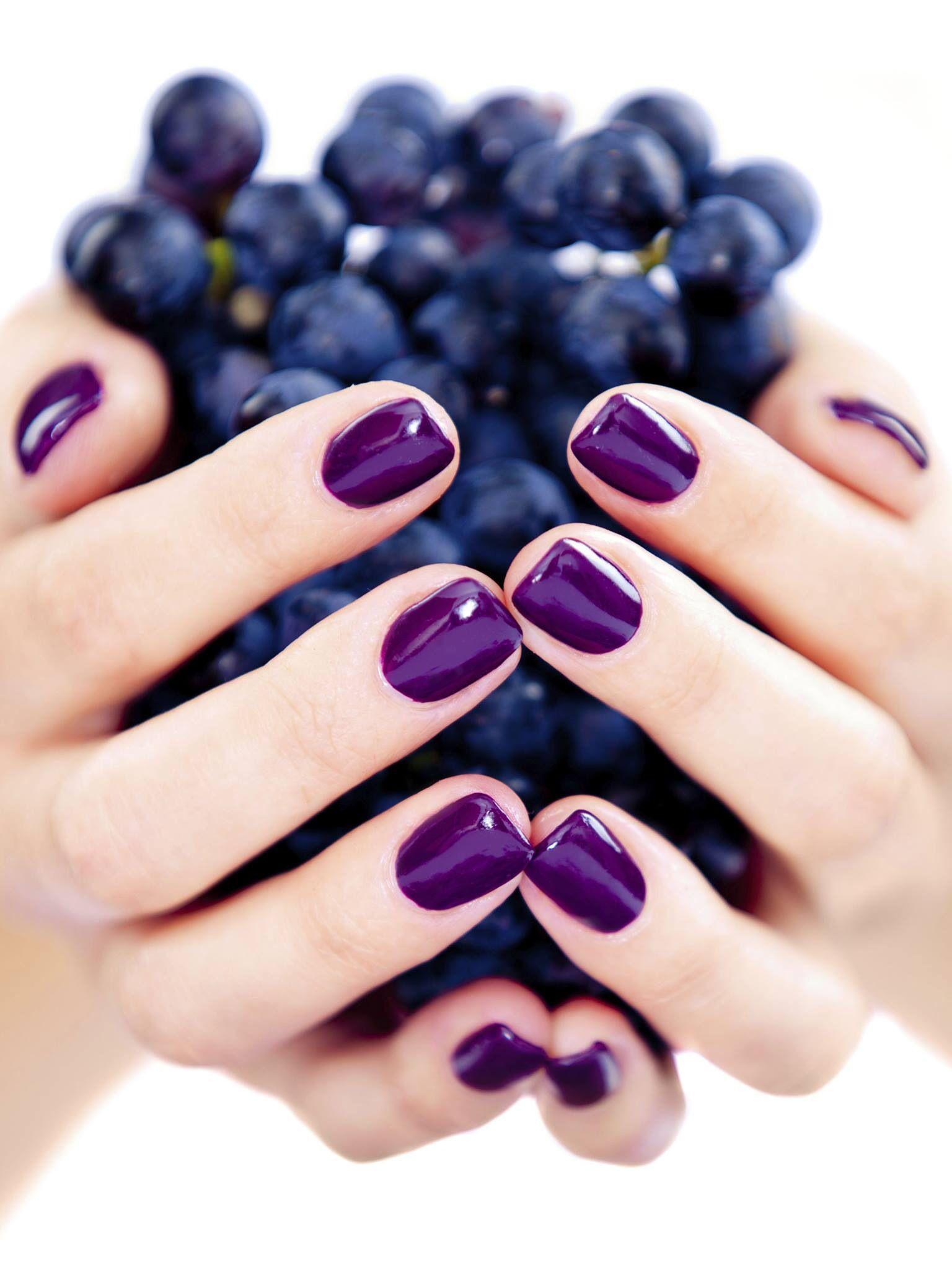 Purple Grape Colored Nails