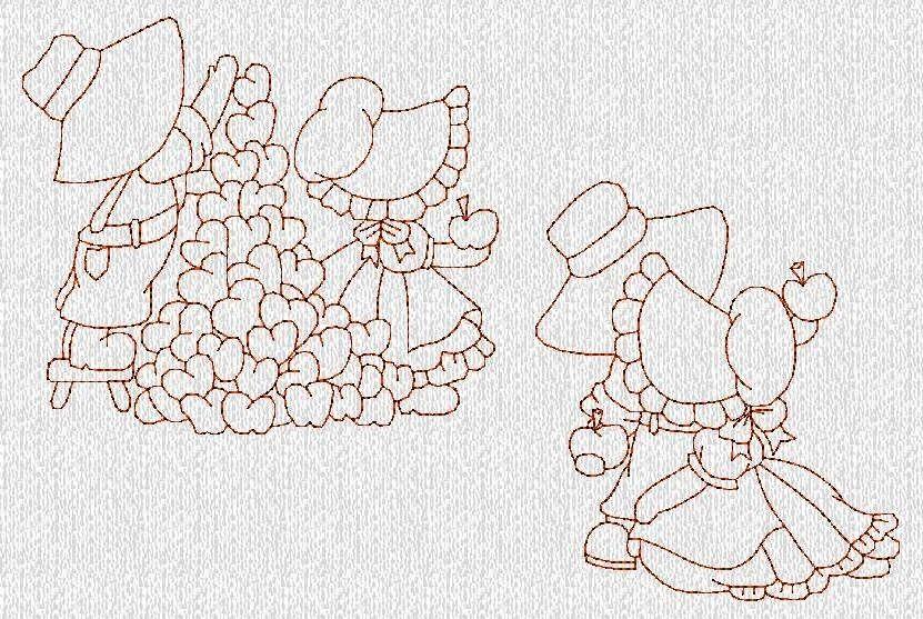 DESCARGA instantánea Sunbonnet Sue niños diseños por embroiderygirl ...
