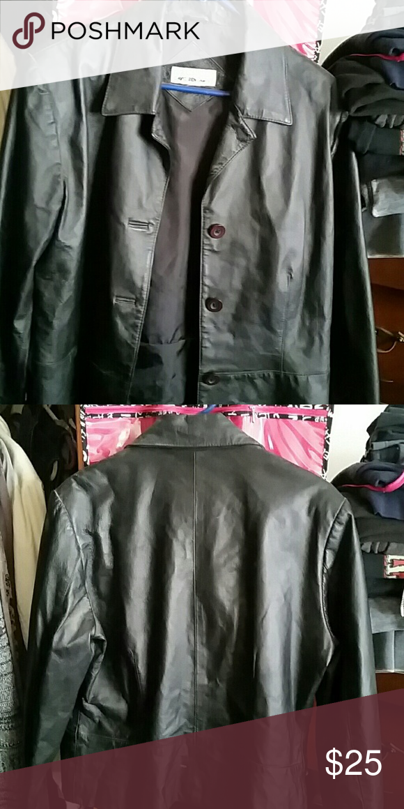 Leather jacket Short leather jacket with buttons. No zipper. I used to wear it with tank underneath. I cut the size tag from it. Very cute. David Benjamin  Jackets & Coats Blazers