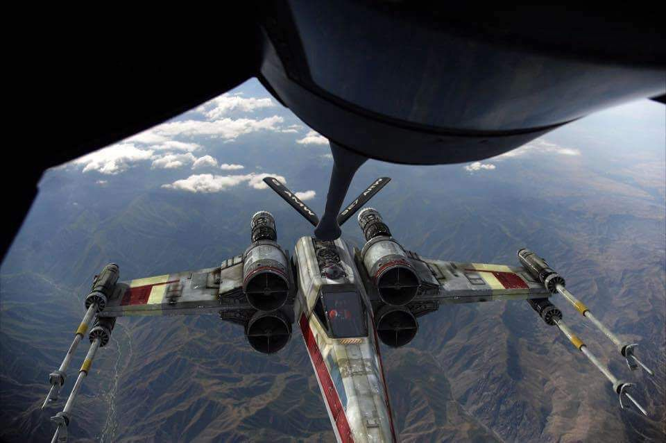 X Wing Mid Air Refueling Star Wars Fandom Star Wars Ships Star Wars Wallpaper