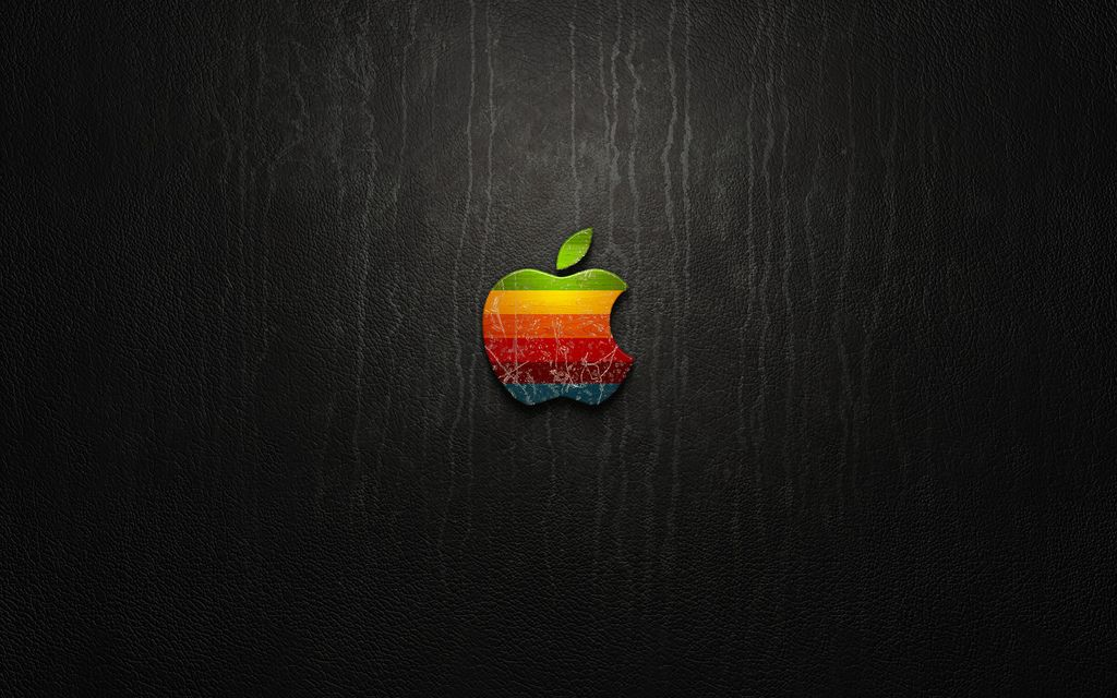 A classic black background for Apple users or fan boys!