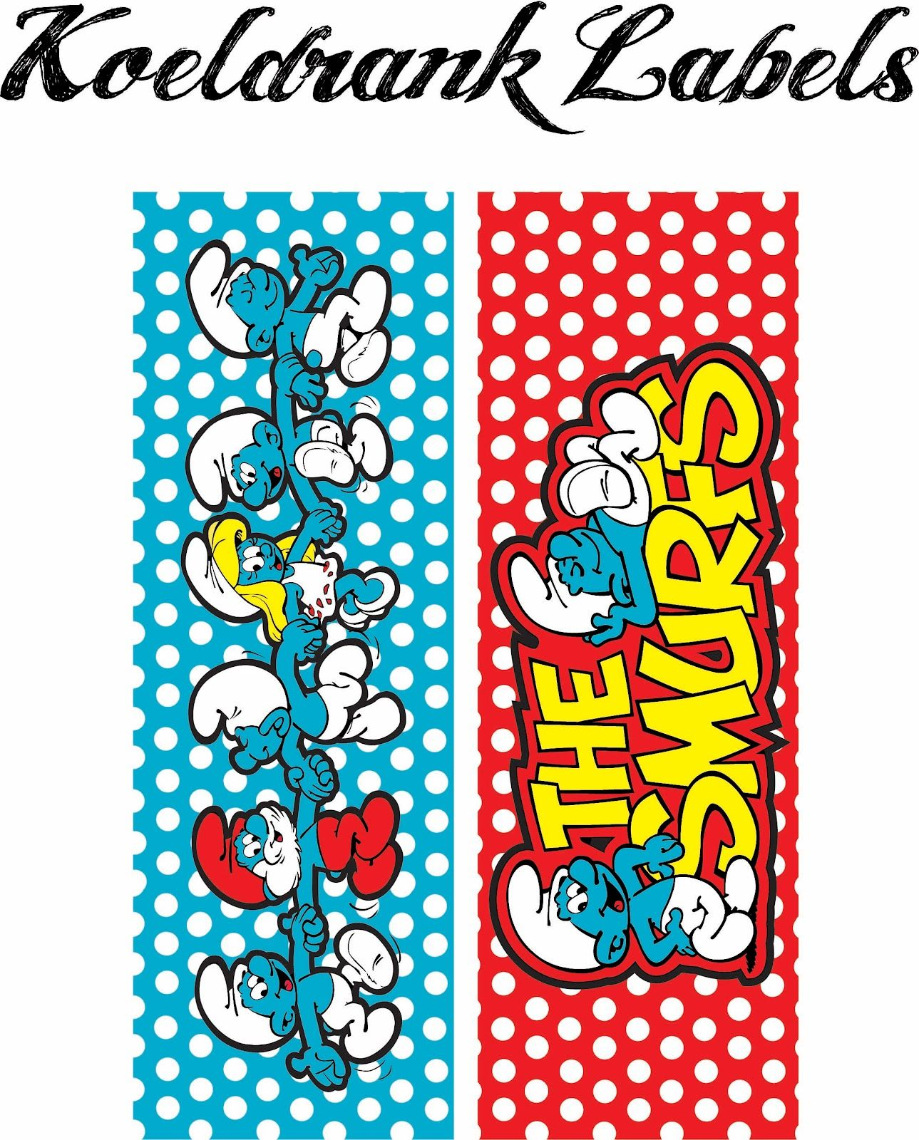 Laine Design: Freebies | Smurfs Printables | Pinterest | DIY party