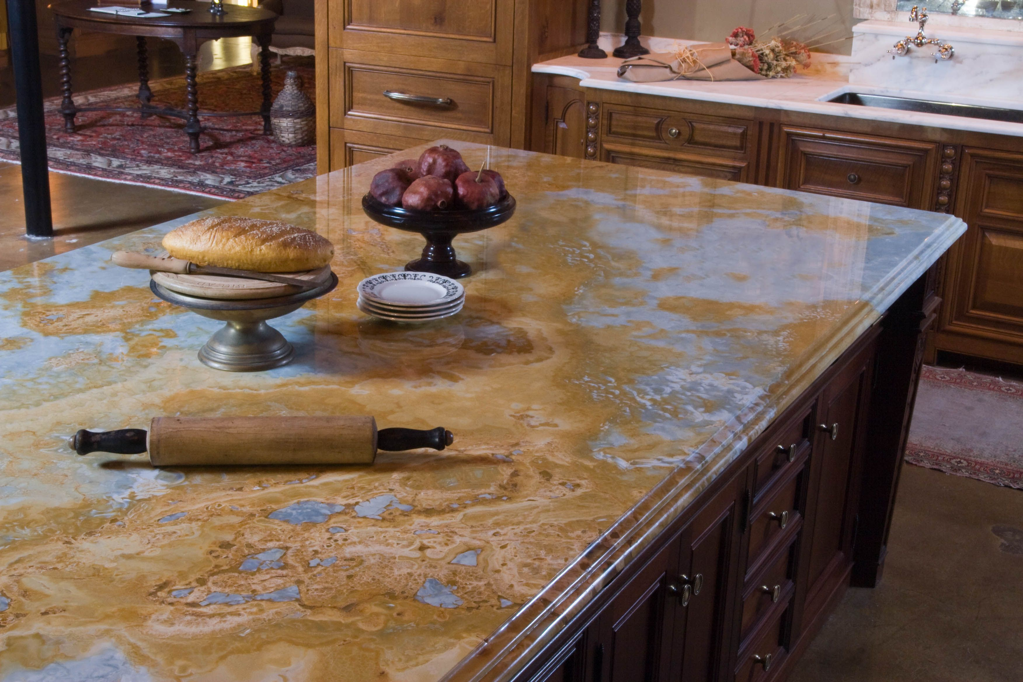 Pros And Cons Of Granite Kitchen Countertops Countertop Guides Natural Stone Countertops Beautiful Kitchen Countertops Granite Countertops