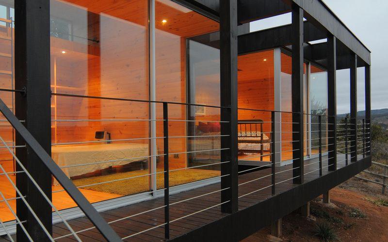 Nicolas loi arquitectos fachada madera pino exterior ventanales casa - fachada madera