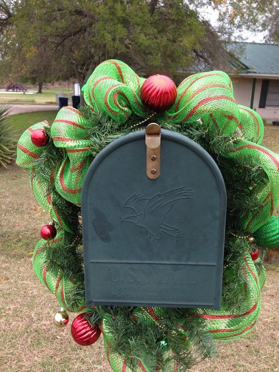 Christmas garland, mailbox decoration, window garland