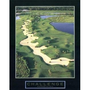 ''Challenge - Golf Ii'' by Anon Motivational Art Print