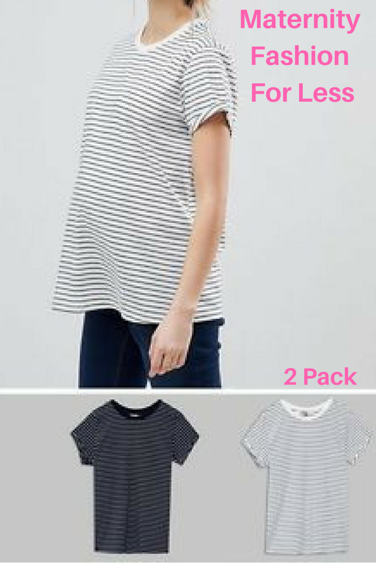 5c232a7176ef9 Save on this Maternity easy t-shirt in stripe 2 pack! #ad #maternity ...